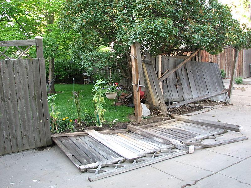 Joe's son crashed into fence