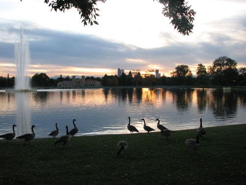 City park sunset