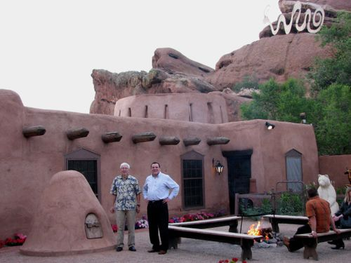 Bob and Jorge at the Fort