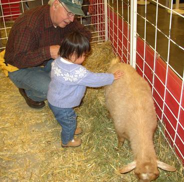 Clio_petting_goat