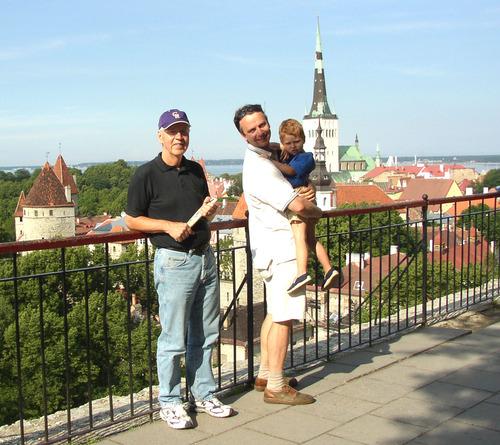 Bob with Viktor and Peter in Upper Tallinn