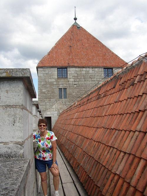 Deb on Kurrasaare Castle guard path