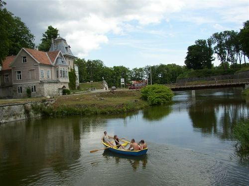 Rowing the Castle Moat