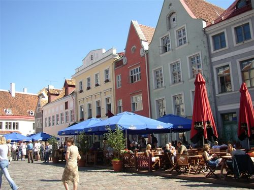 Summer cafes in Tallin Square