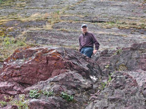 Bob on the rocks