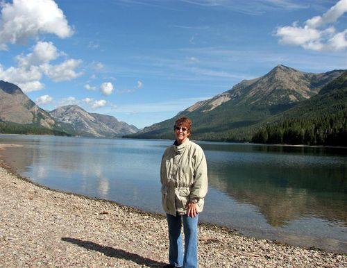 Deb at the U.S. end of the lake