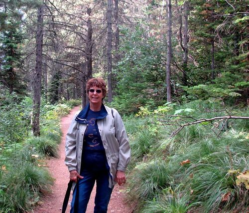 Deb on Red Rocks Falls Trail