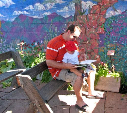 Ethan and wade in story corner