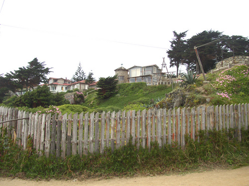 Neruda's house from the beach
